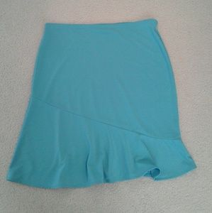 Bright blue womens skirt. Giorgio Fiorlini
